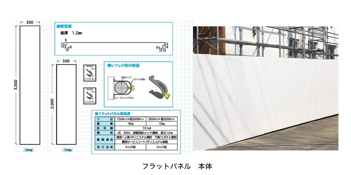 フラットパネル(白)|足場一番 - 足場・仮設資材販売サイト